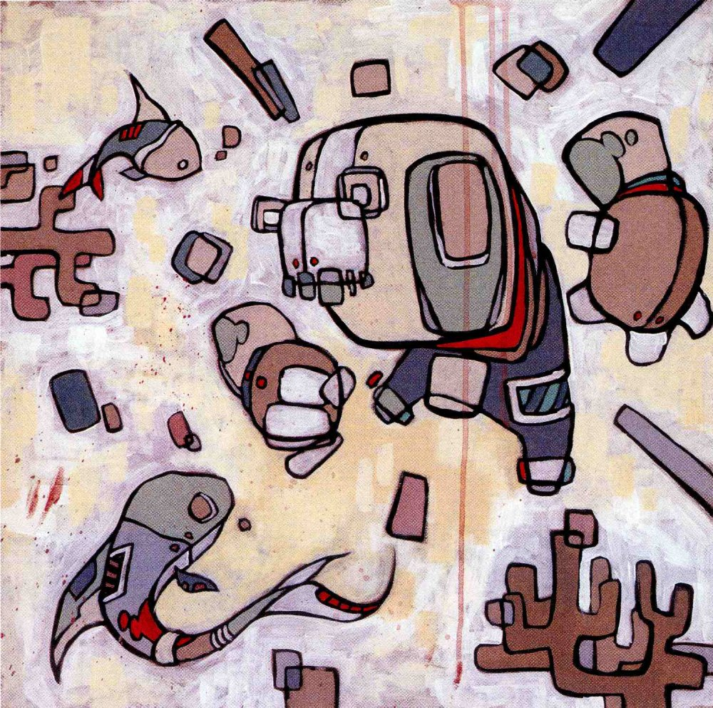 Persono non grata, peinture tirée de Back de Diamonds, Spades, Hearts & Clubs' par Mike Shinoda