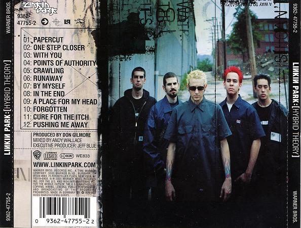 Back de l'album Hybrid Theory