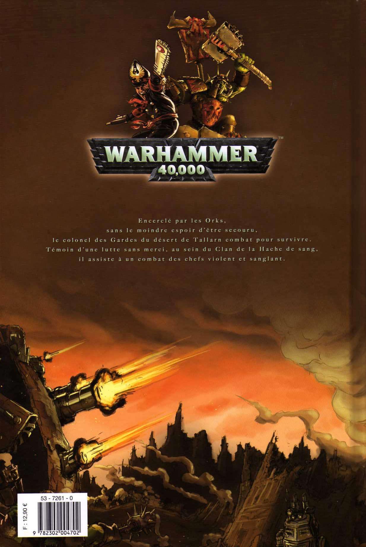 T4 : Le clan des Orks - Warhammer 40.000 (couverture dos)