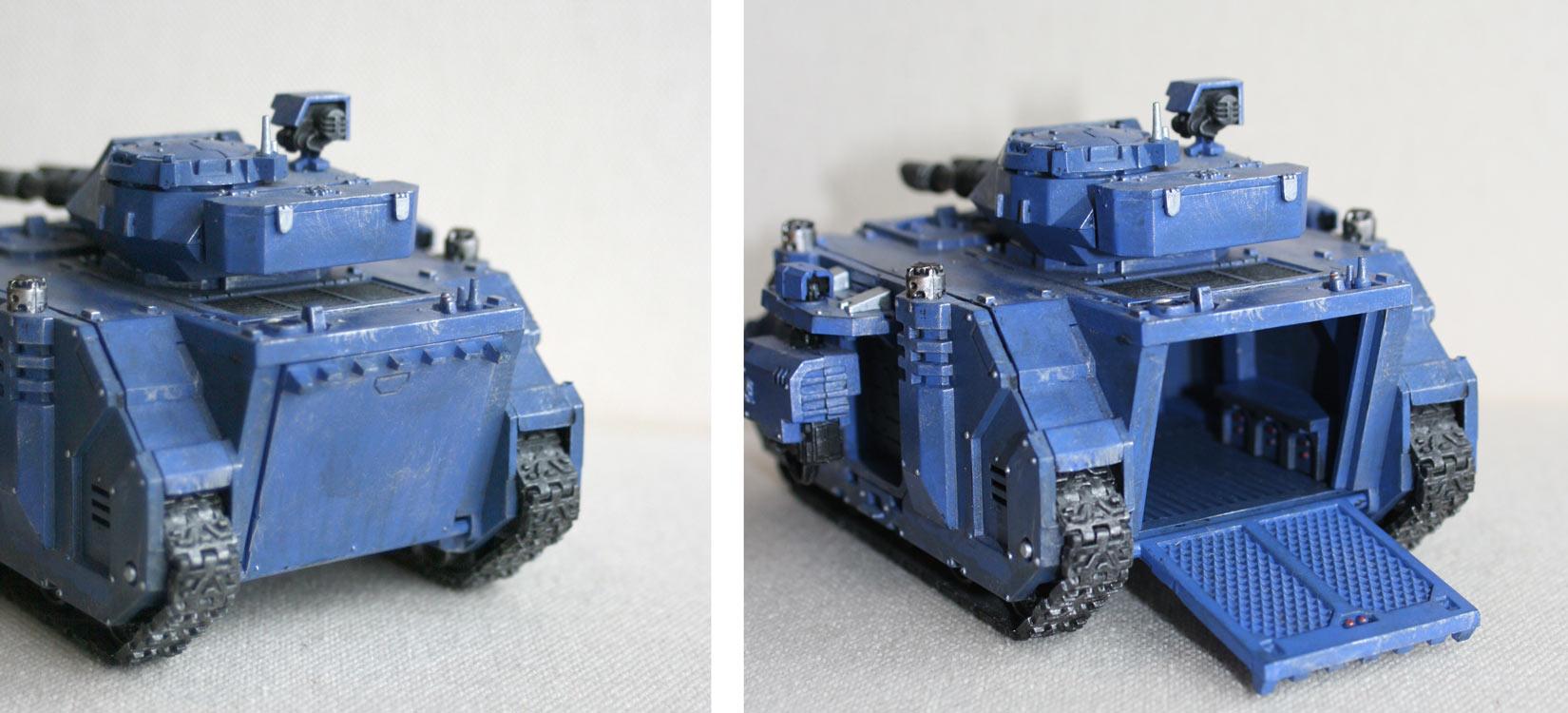 Tank Predator (Space Marine - Warhammer 40.000) porte arrière