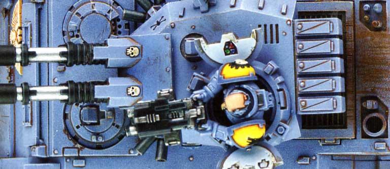 Tank Predator vue de dessus (Space Marine - Warhammer 40.000)