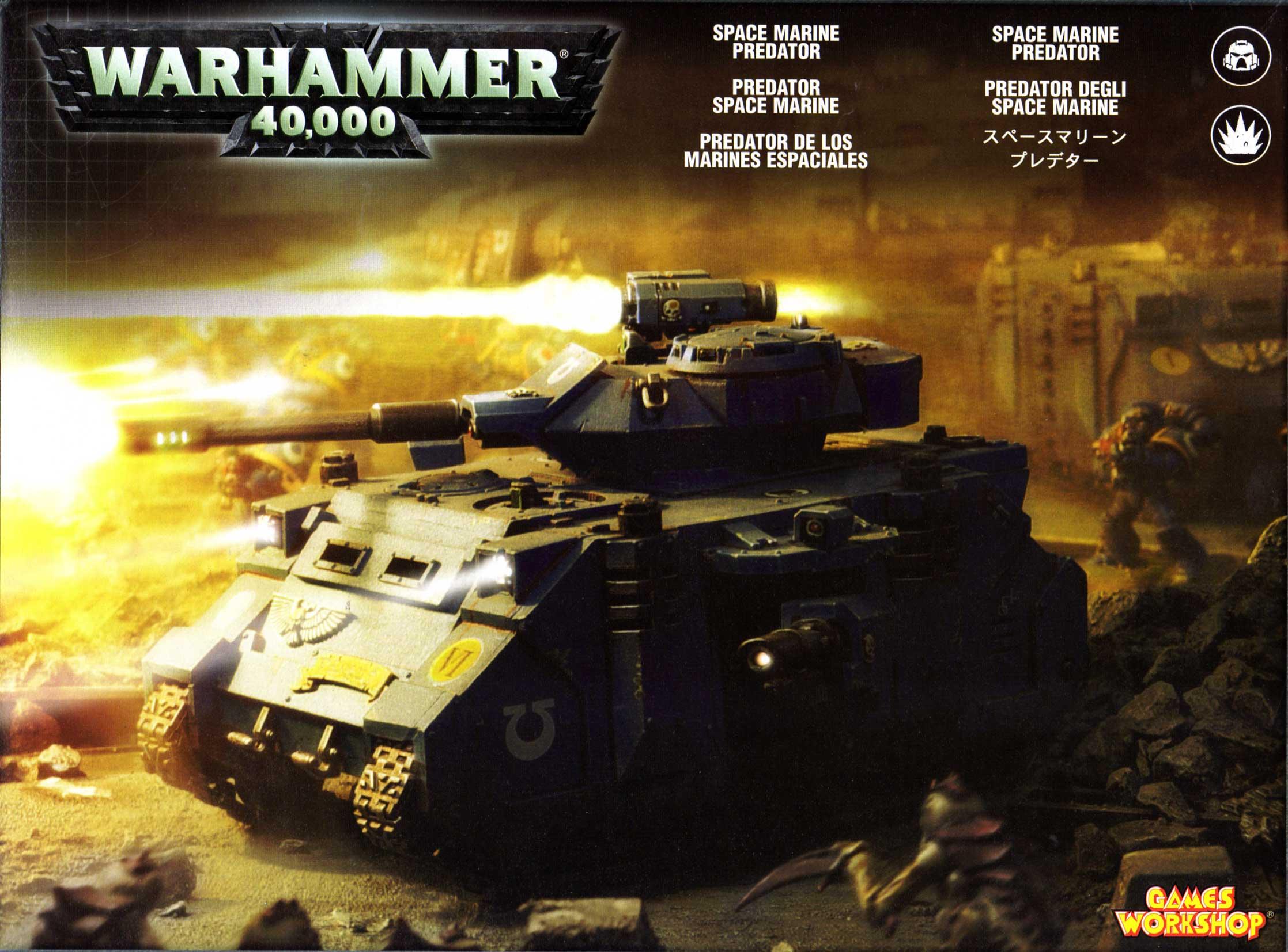 boîte face Tank Predator (Space Marine - Warhammer 40.000)