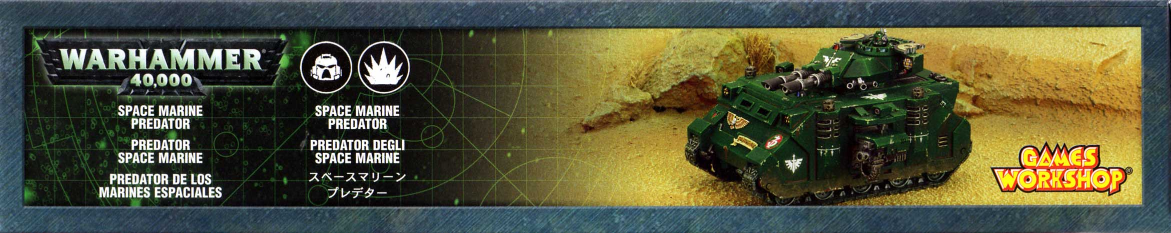 boîte face bas Tank Predator (Space Marine - Warhammer 40.000)