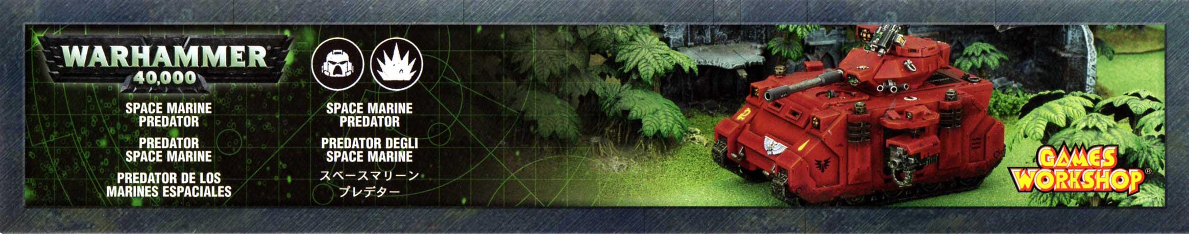 boîte face haut Tank Predator (Space Marine - Warhammer 40.000)