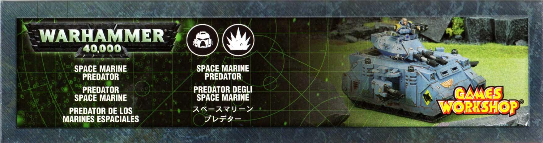 boîte face gauche Tank Predator (Space Marine - Warhammer 40.000)
