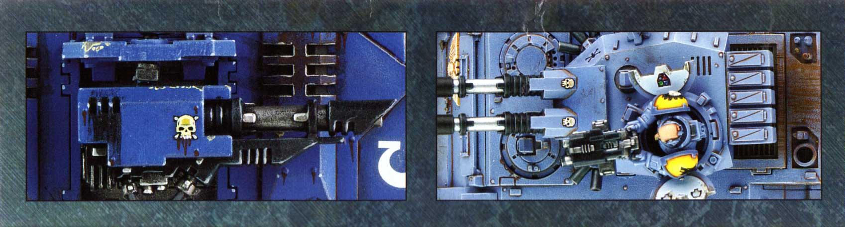 boîte dos droite et gauche Tank Predator (Space Marine - Warhammer 40.000)