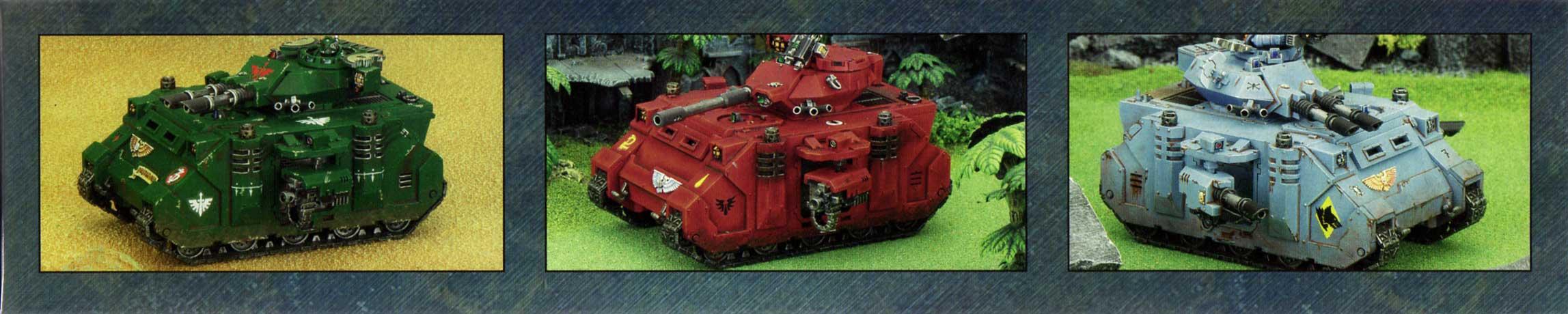 boîte dos haut et bas Tank Predator (Space Marine - Warhammer 40.000)