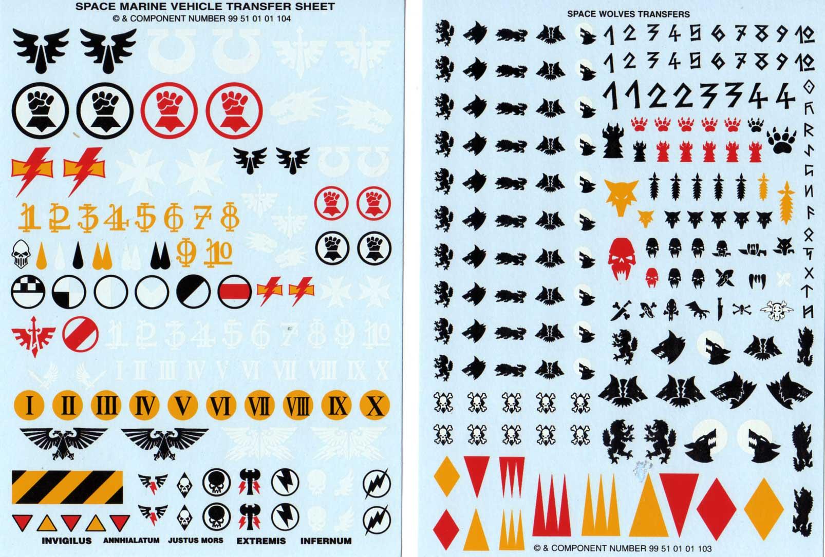 décalco Tank Predator (Space Marine - Warhammer 40.000)