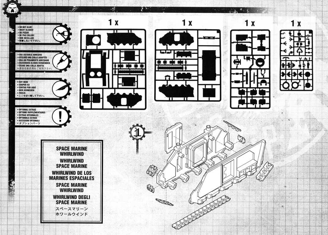 Notice P2 Tank Predator (Space Marine - Warhammer 40.000)