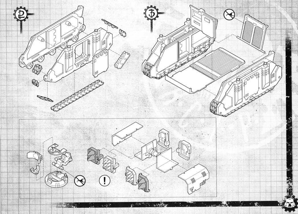 Notice P3 Tank Predator (Space Marine - Warhammer 40.000)