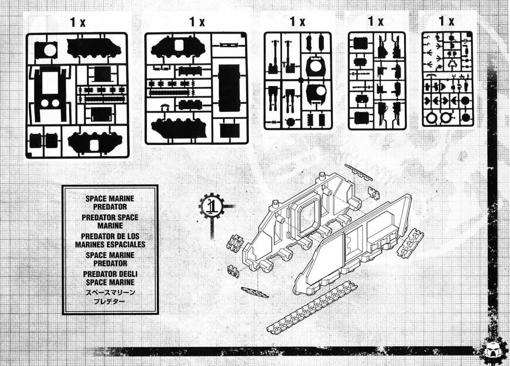 Notice P5 Tank Predator (Space Marine - Warhammer 40.000)