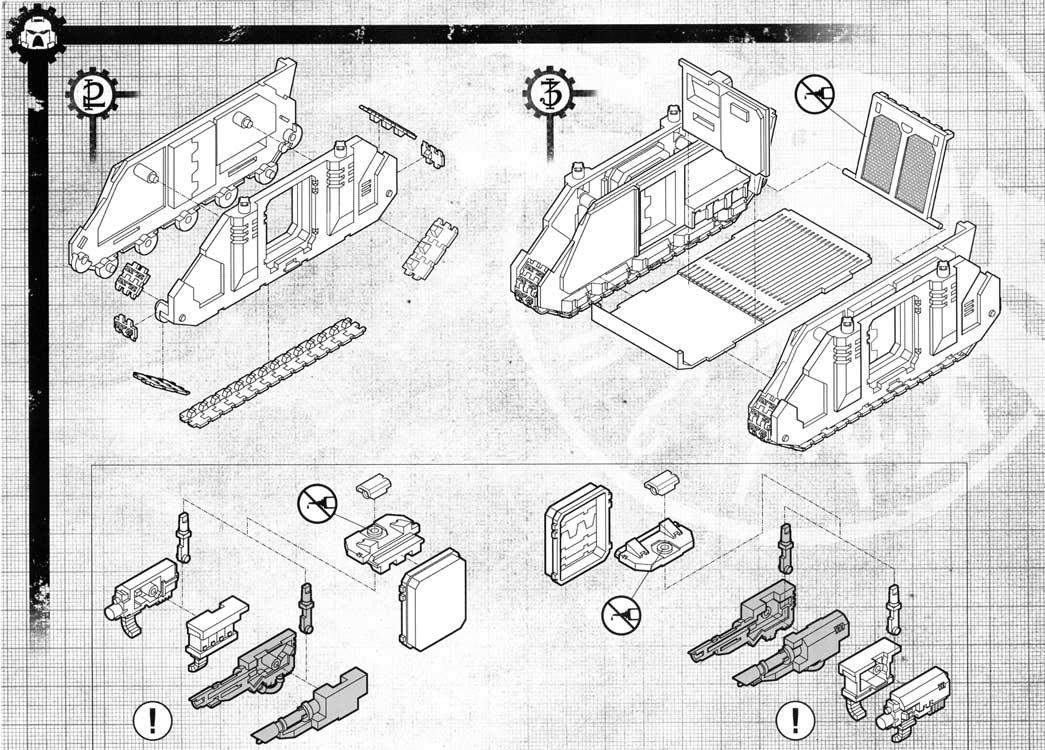 Notice P6 Tank Predator (Space Marine - Warhammer 40.000)