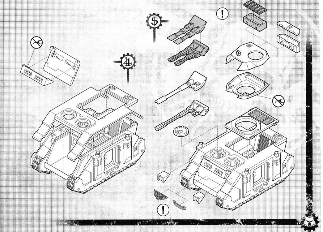 Notice P7 Tank Predator (Space Marine - Warhammer 40.000)