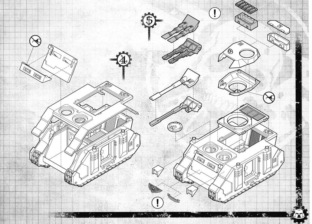 Notice P7 Tank Predator (Space Marine - Warhammer 40.000)