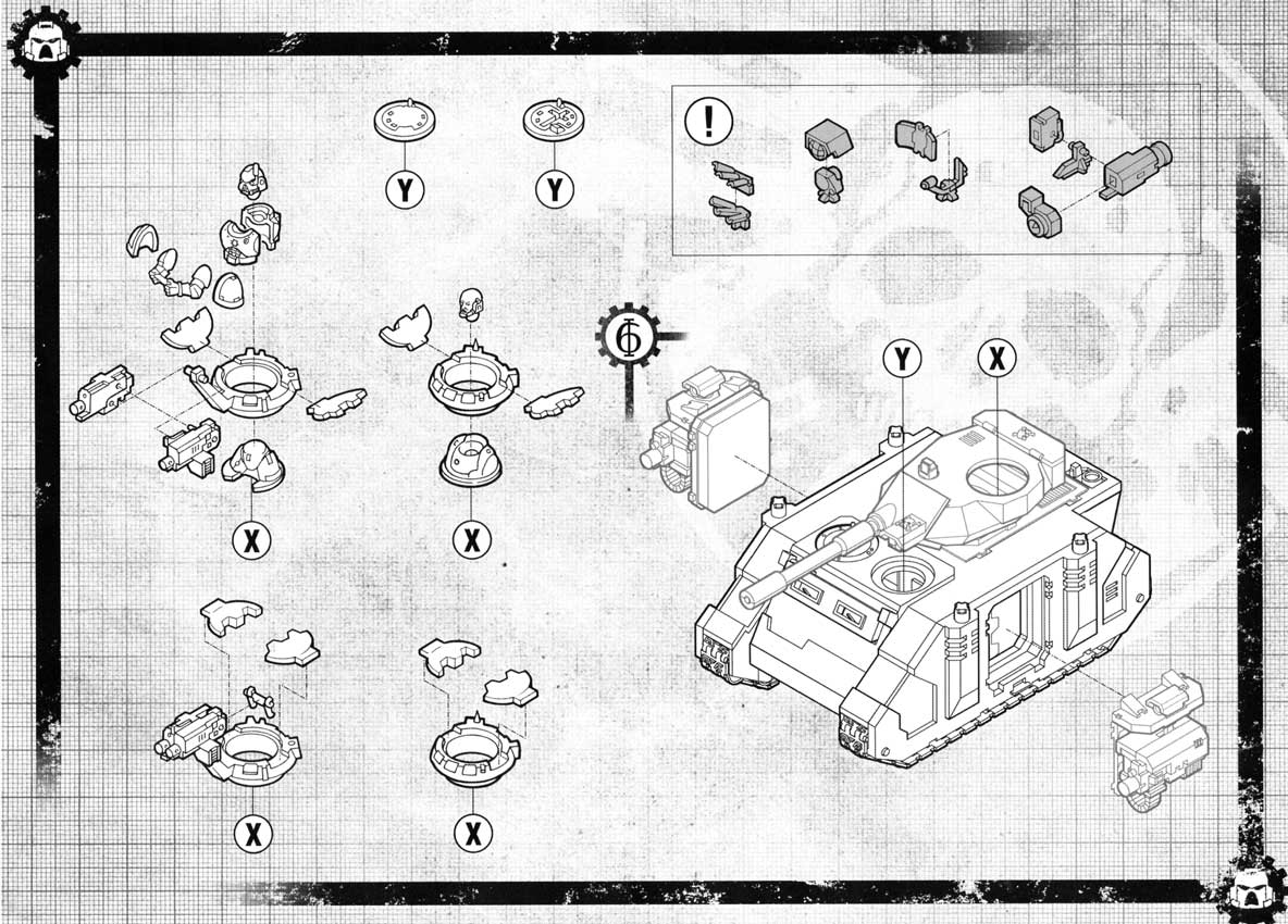 Notice P8 Tank Predator (Space Marine - Warhammer 40.000)