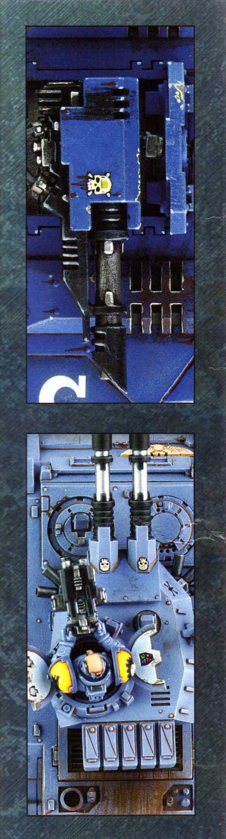 boîte dos gauche Tank Predator (Space Marine - Warhammer 40.000)