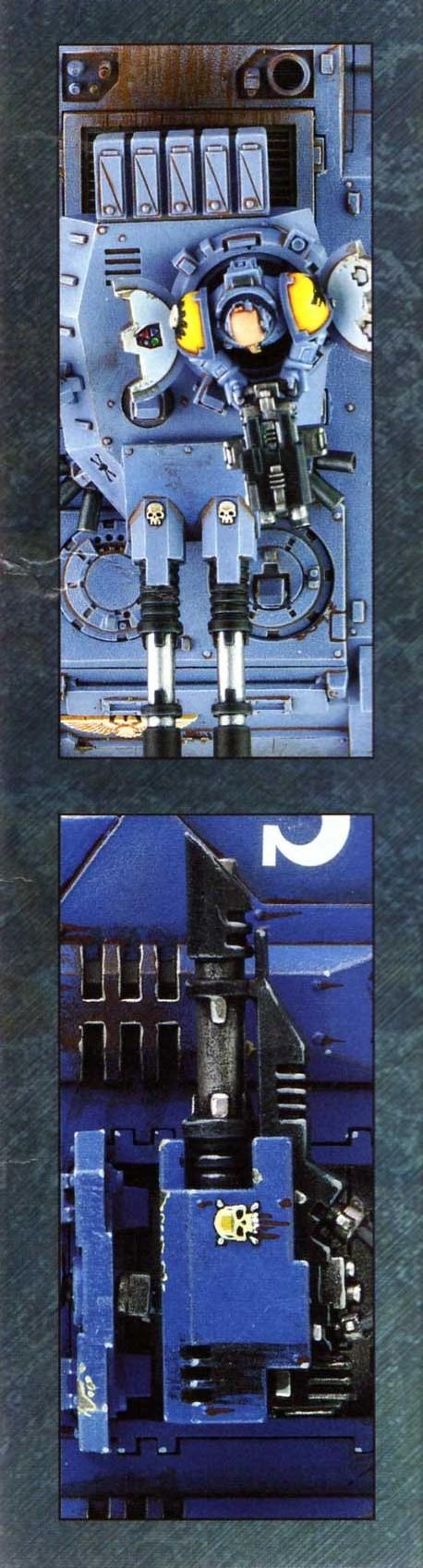 boîte dos droite Tank Predator (Space Marine - Warhammer 40.000)