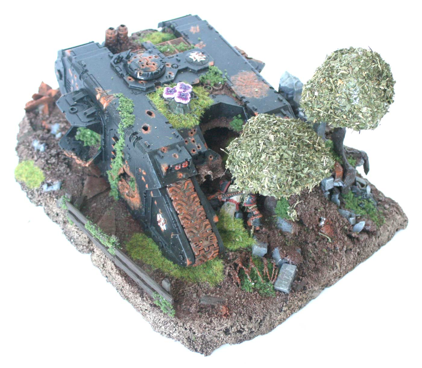 Diorama Black Templar (pave de Land Raider) Warhammer 40K