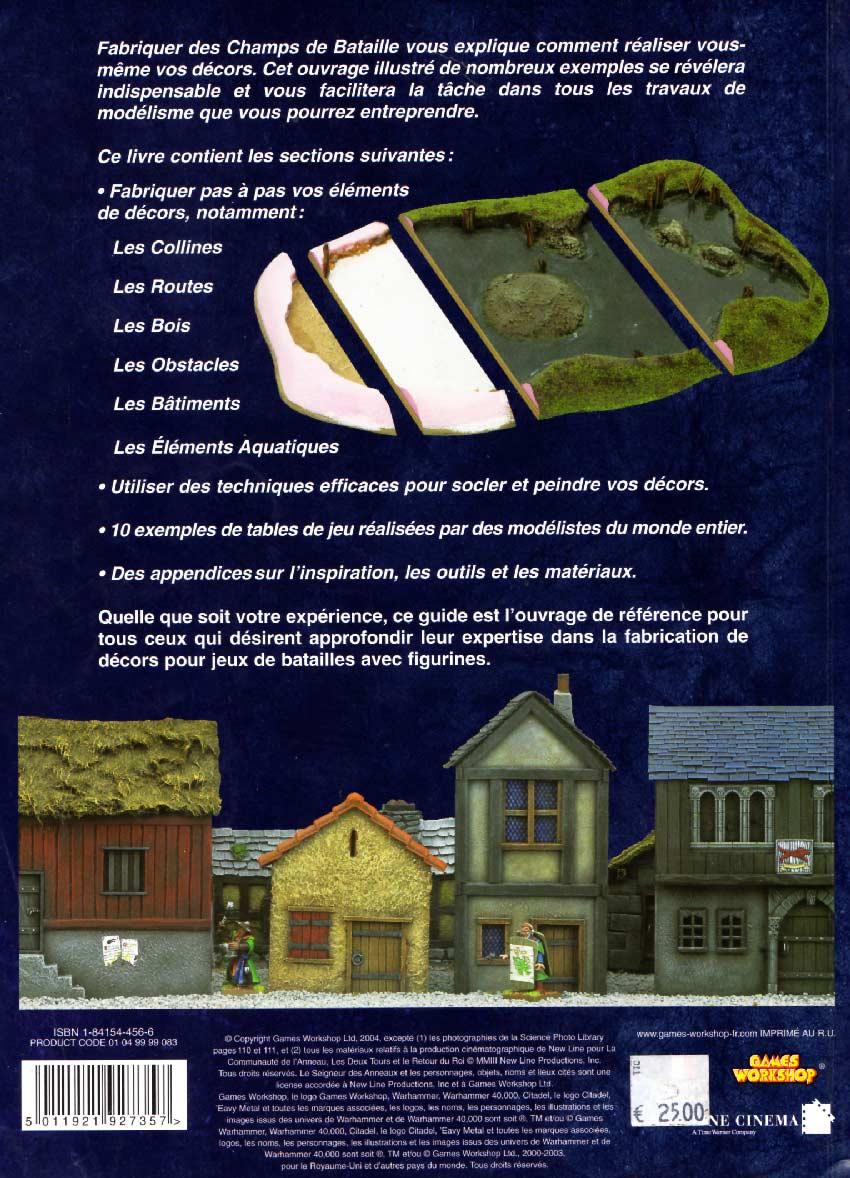 Fabriquer des champs de bataille (Games Workshop) couverture dos