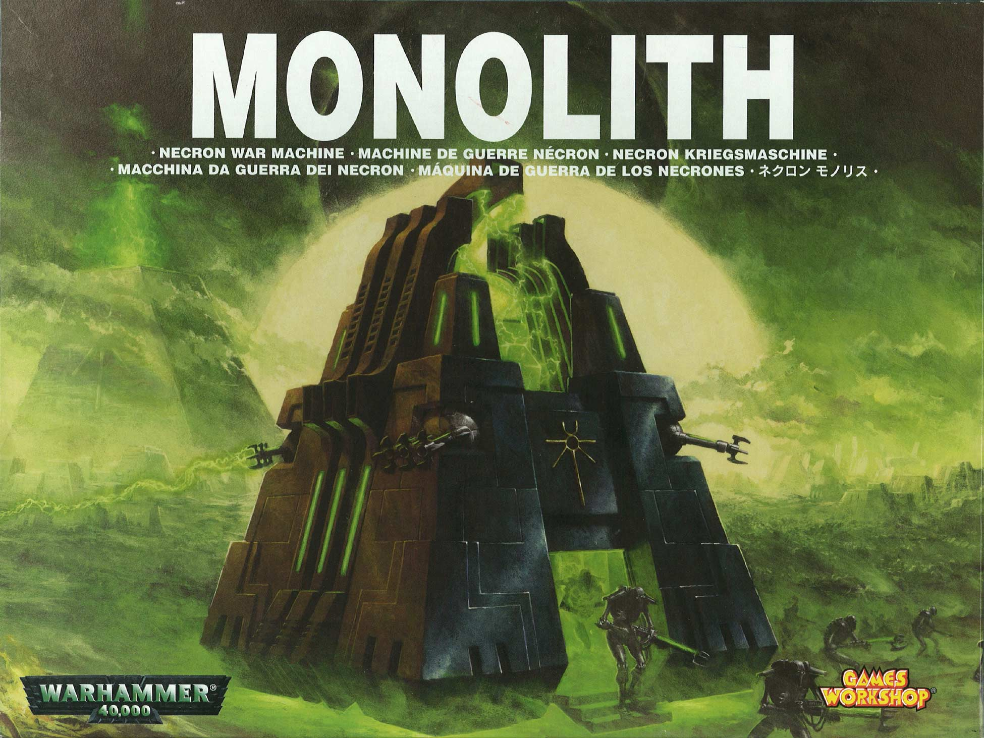 Face du packaging du Monolithe Nécron (Warhammer 40.000)