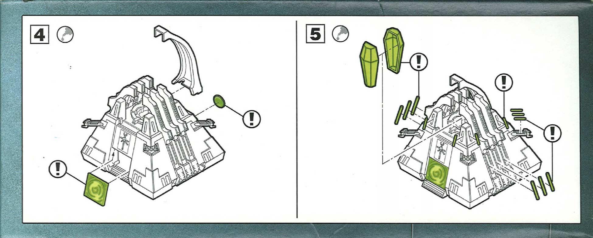 Côté droit du fond du packaging du Monolithe Nécron (Warhammer 40.000)