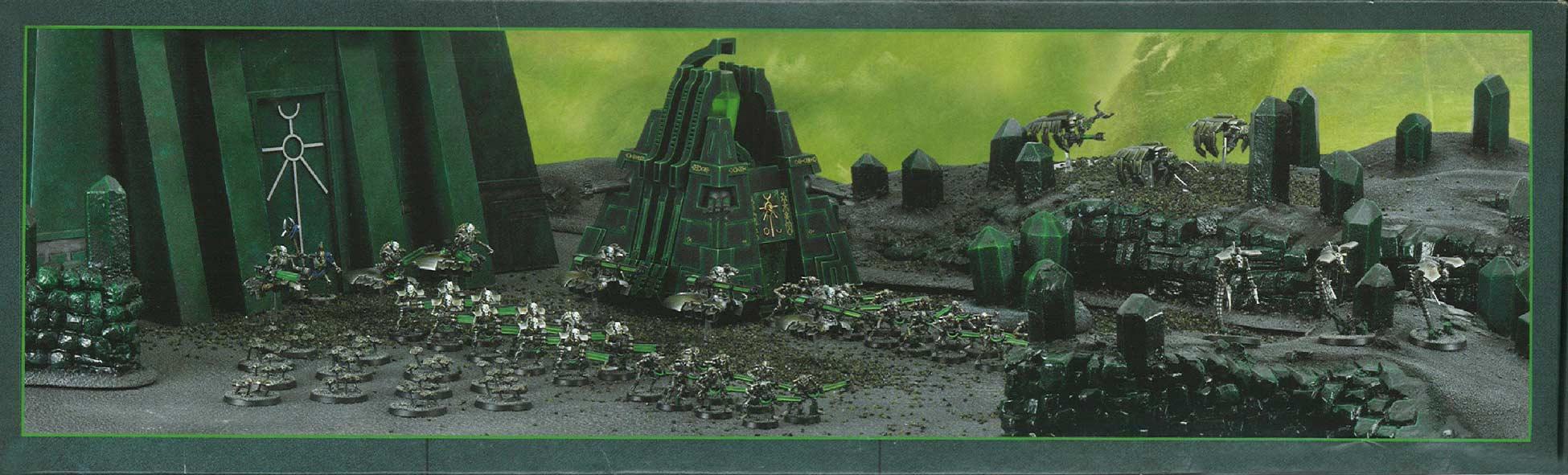 Côté dessous du packaging du Monolithe Nécron (Warhammer 40.000)