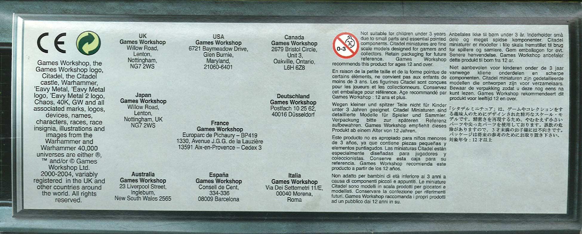 Côté droit du packaging du Monolithe Nécron (Warhammer 40.000)