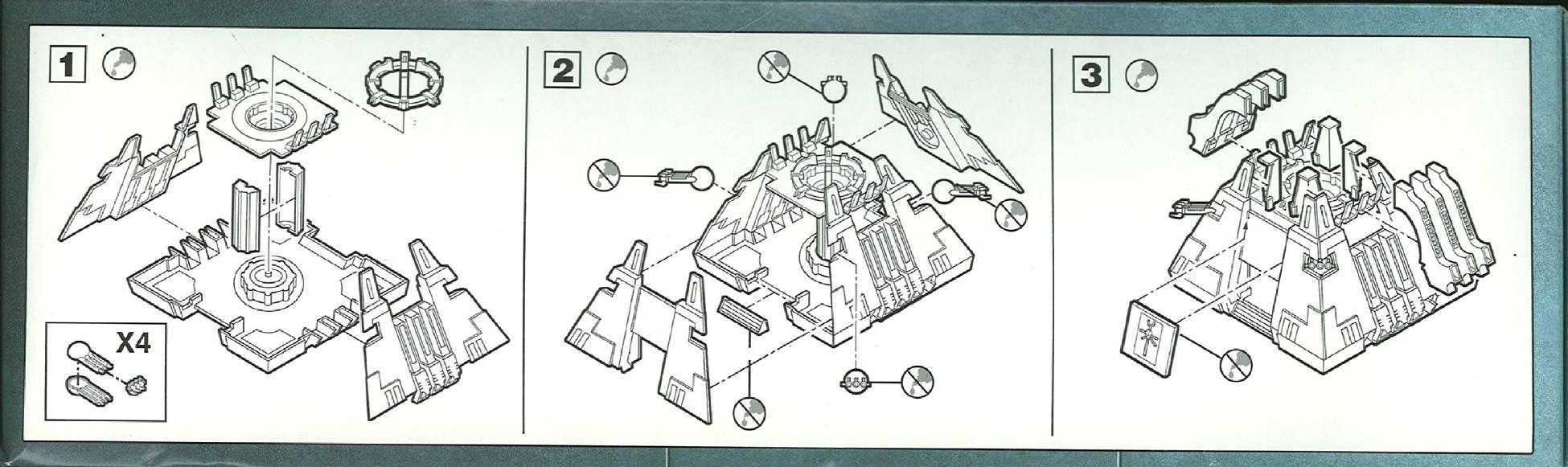Côté dessus du packaging du Monolithe Nécron (Warhammer 40.000)