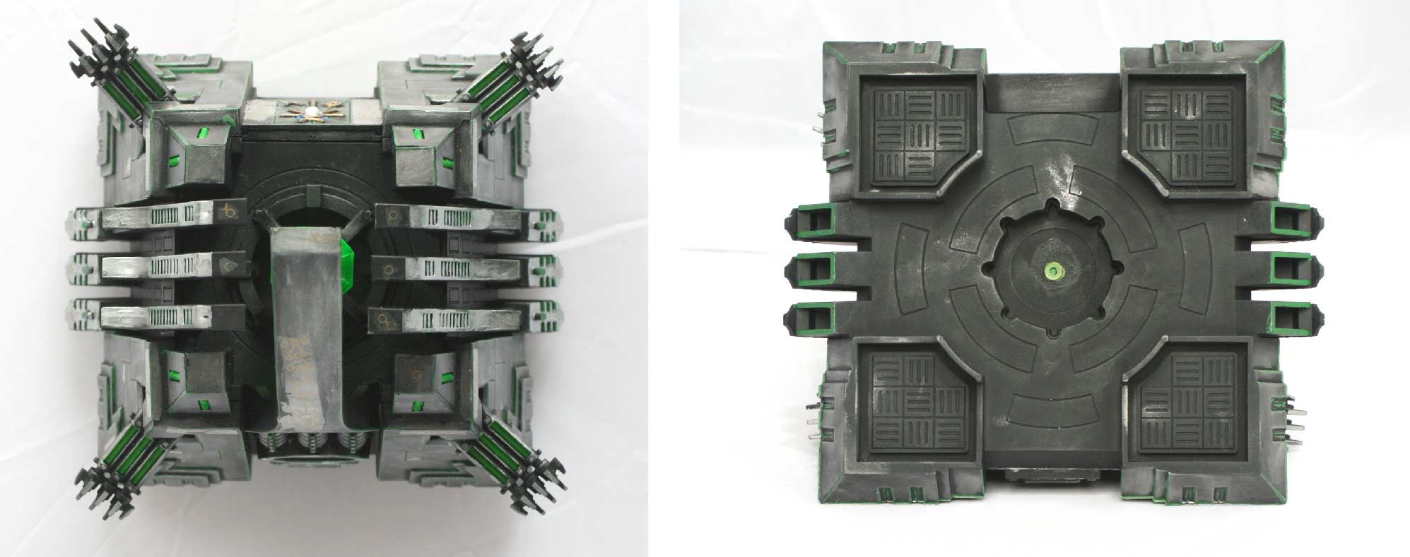 Monolithe Nécron vue dessus et dessous (Warhammer 40.000)
