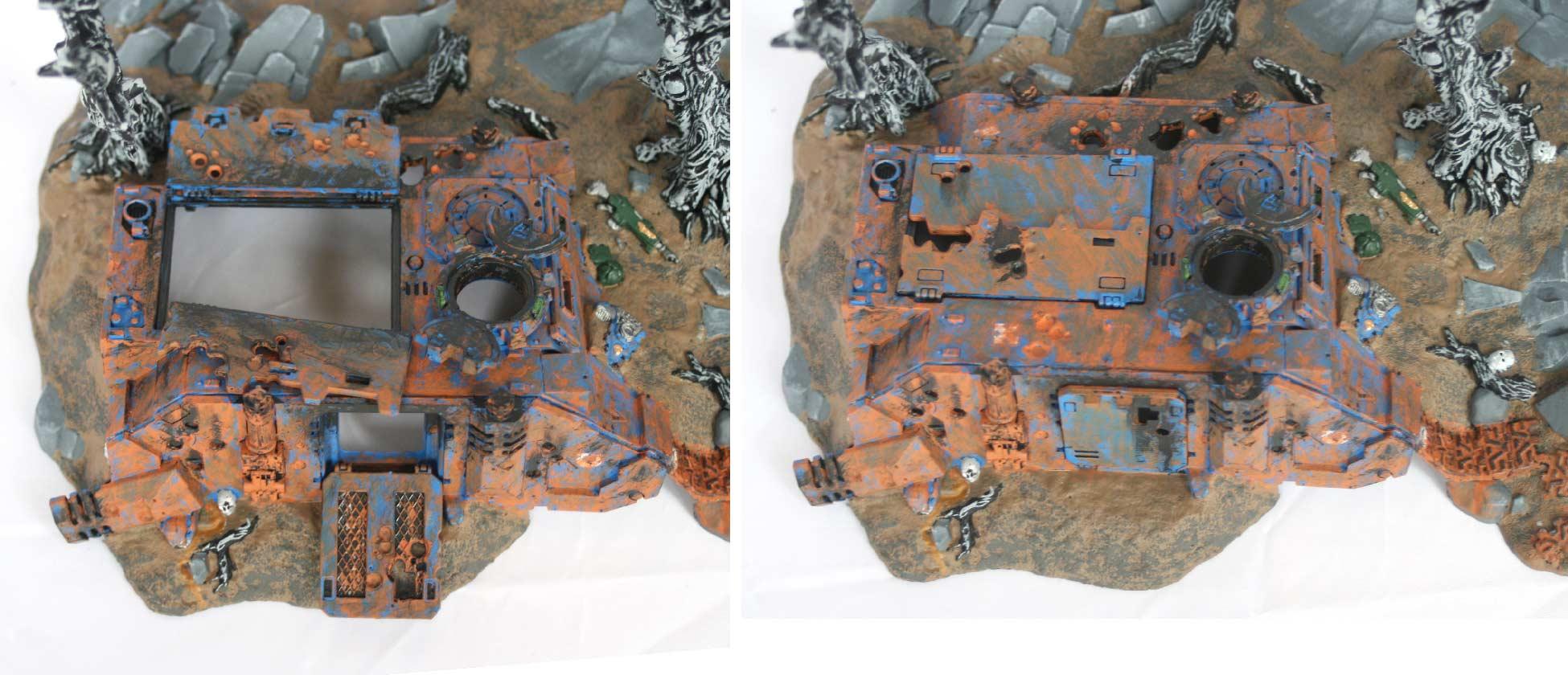Les portes du tank peuvent être jouées en position ouvertes ou fermées