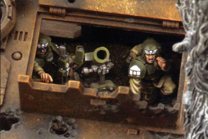 Les soldats peuvent se planquer dans le tank pour tirer