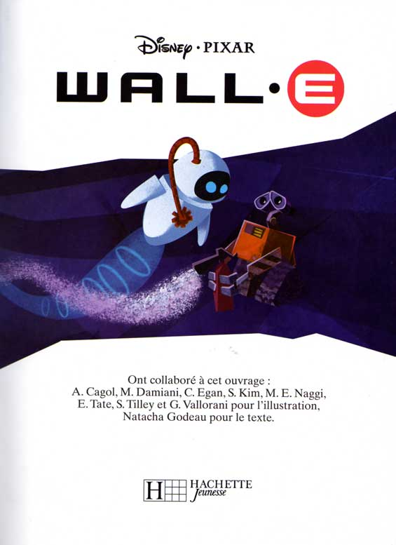 Wall-E (livre pour enfant Hachette 2008) page 1