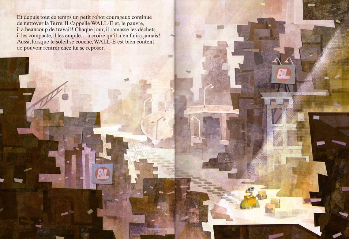 Wall-E (livre pour enfant Hachette 2008) page 4 et 5