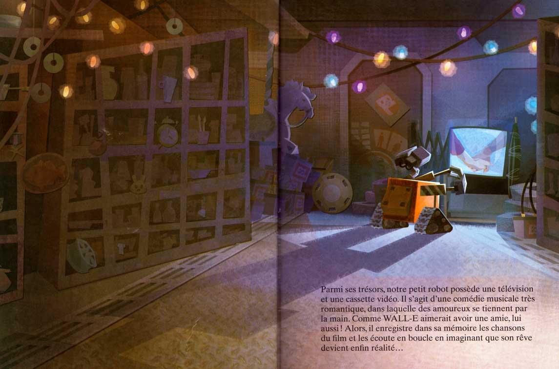 Wall-E (livre pour enfant Hachette 2008) page 8 et 9