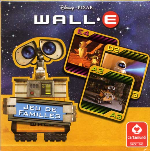 Jeu de familles Wall-E (Cartamundi 2008) boite face