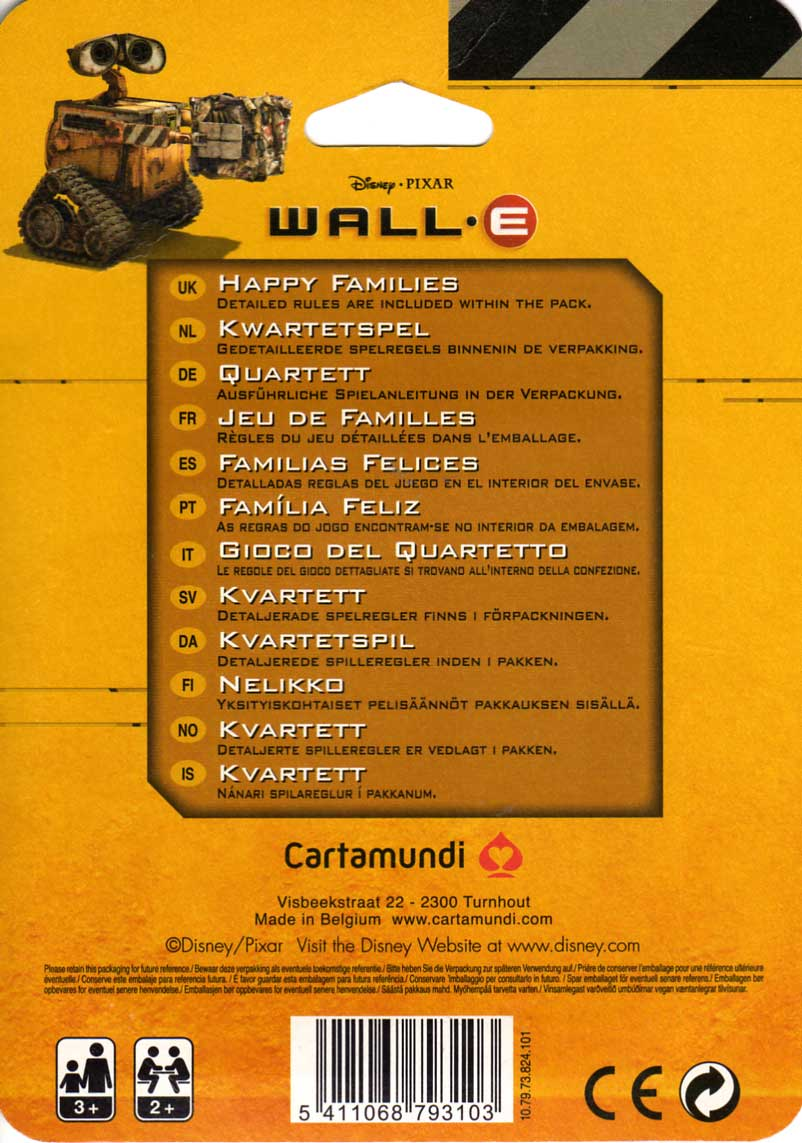 Jeu de familles Wall-E (Cartamundi 2008) packaging dos