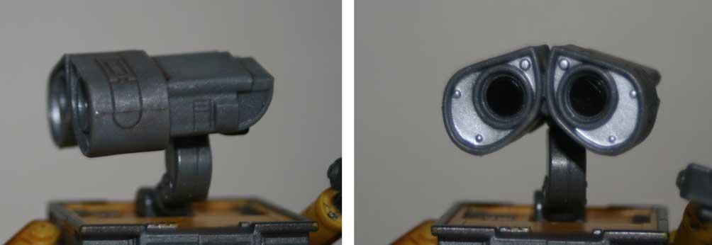 Figurine Giochi Preziosi : Wall-E (2008) détail articulation de la tête