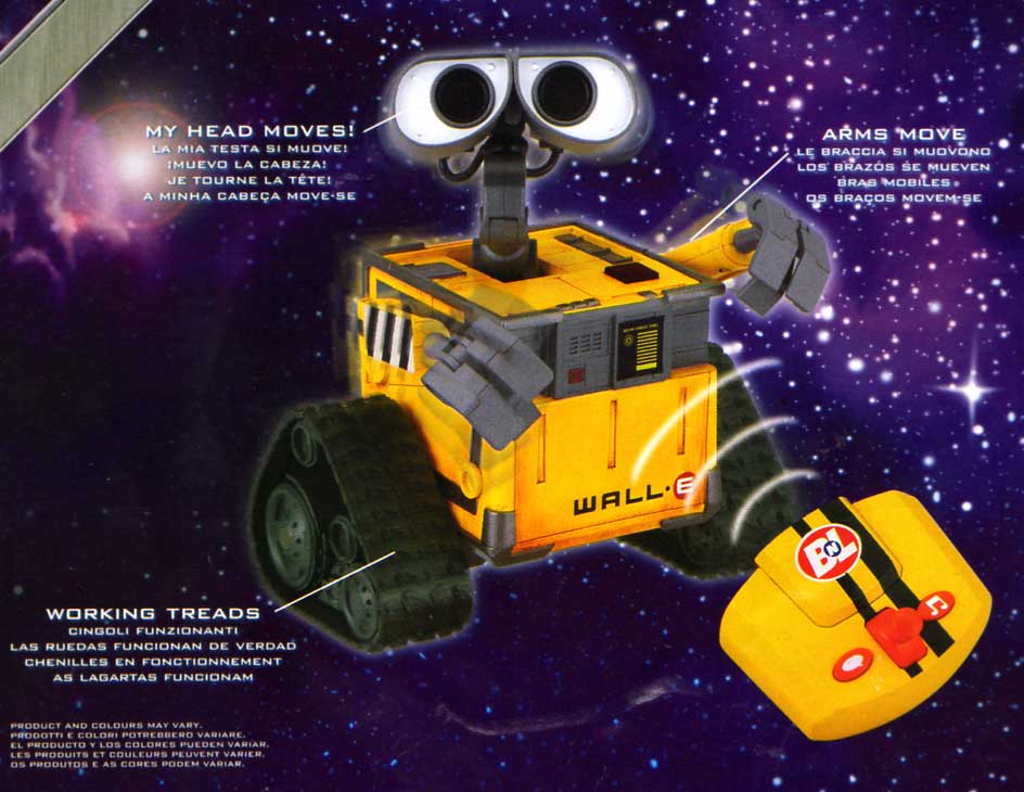 Thinkway Toys : Wall-E tlcommand (2008) petit modle