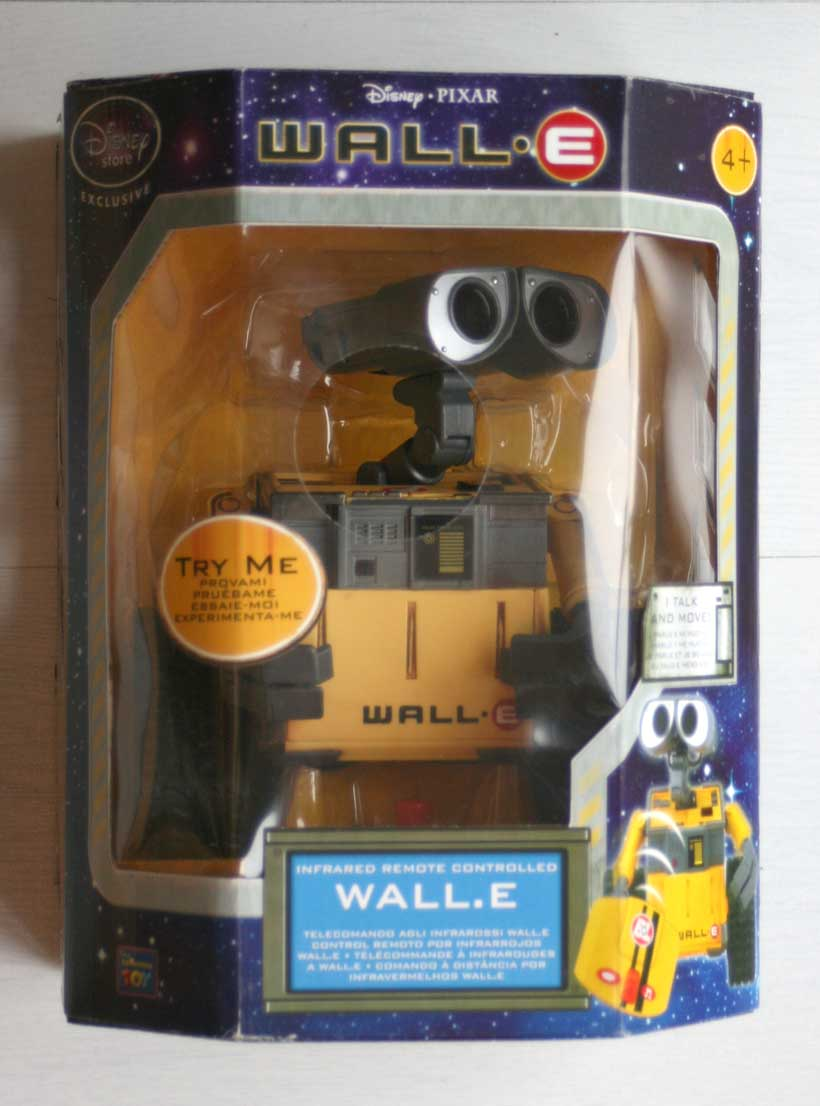 Thinkway Toys : Wall-E télécommandé (2008) Packaging face