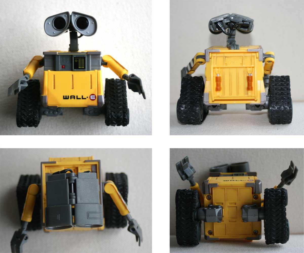 U-Repair Wall-E (2008) Face, dos, dessus, dessous