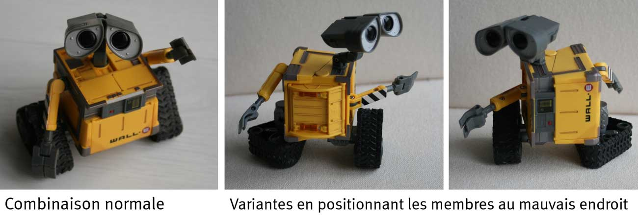 U-Repair Wall-E (2008) divers combinaisons