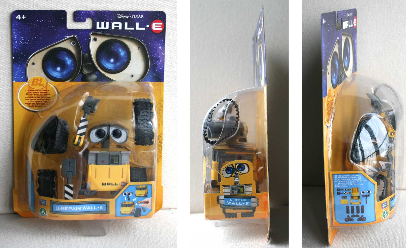 U-Repair Wall-E (2008) Packaging face et profil