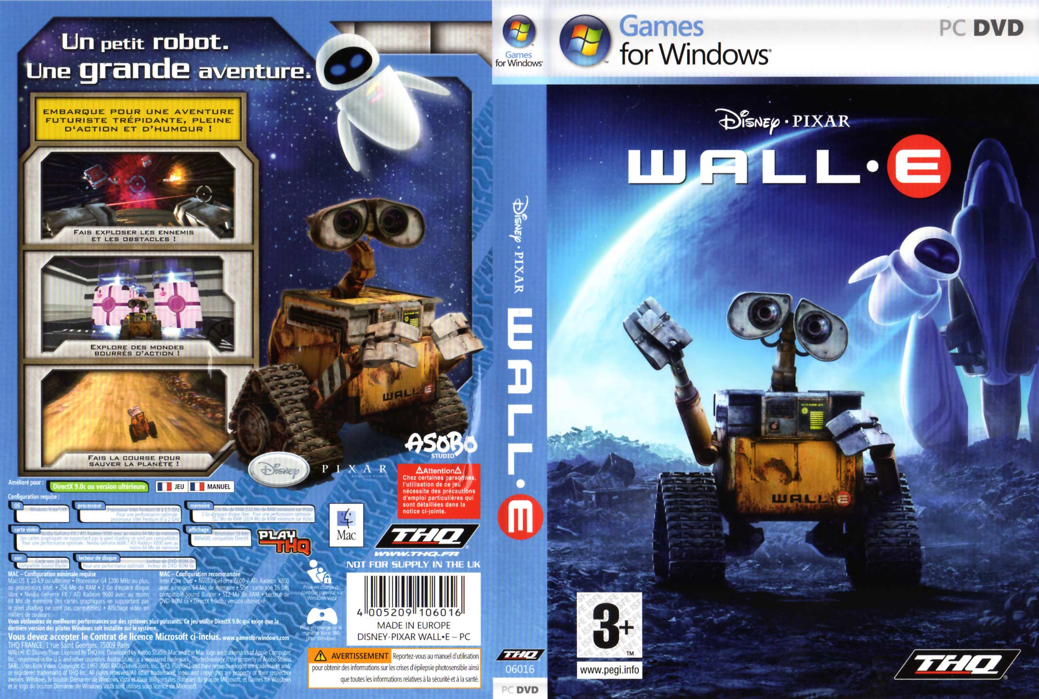 Wall-E (2008 Jeu vido THQ pour PC et MAC)