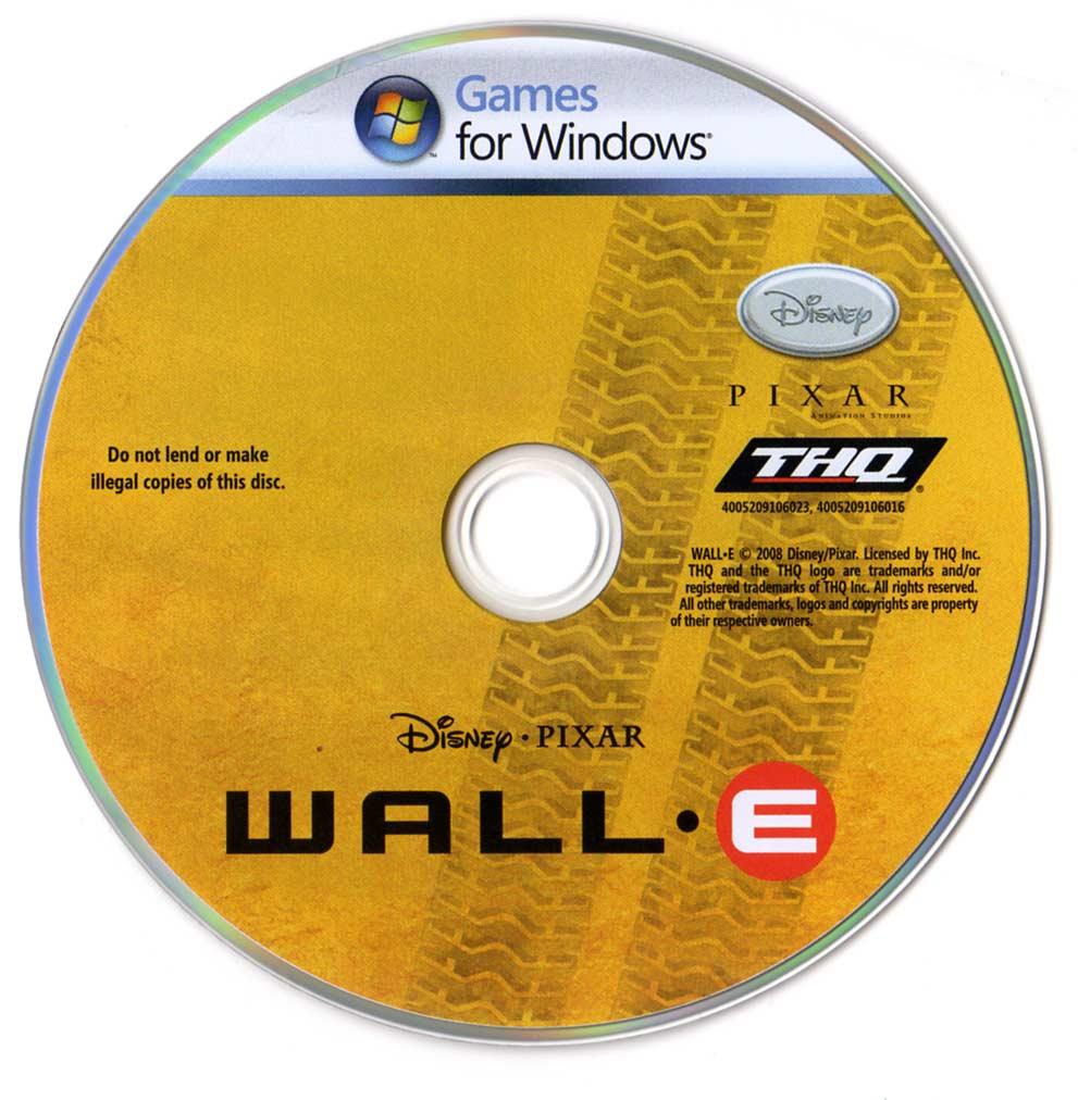 Galette Wall-E (2008 Jeu vidéo THQ pour PC et MAC)