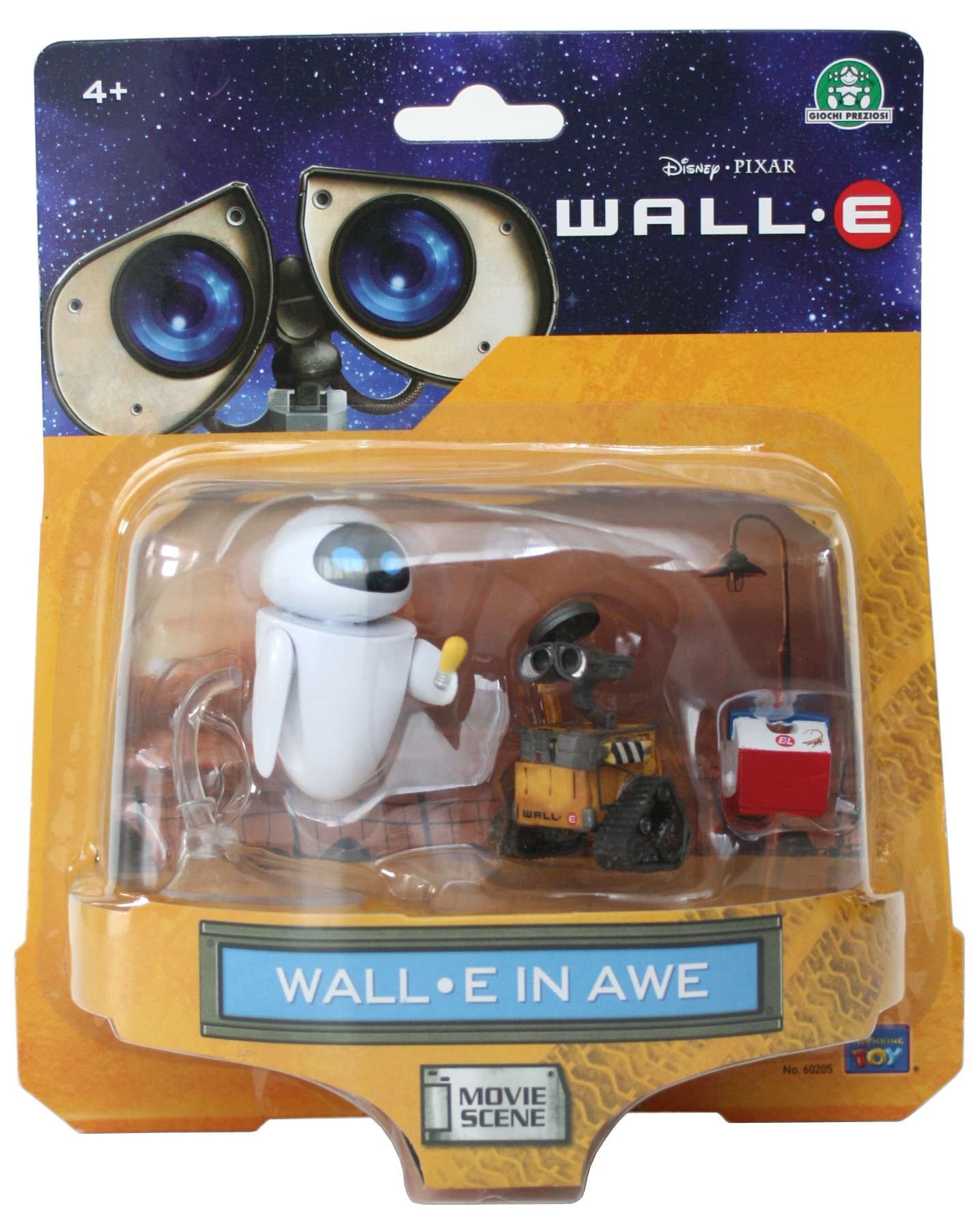 thinkway toys movie scene wall e in awe 2008. Black Bedroom Furniture Sets. Home Design Ideas