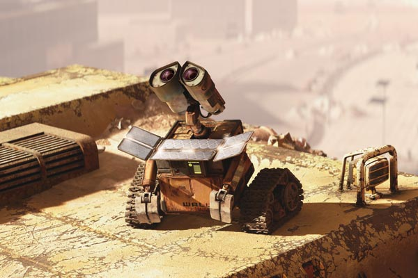 Wall-E et son capteur Photovoltaque