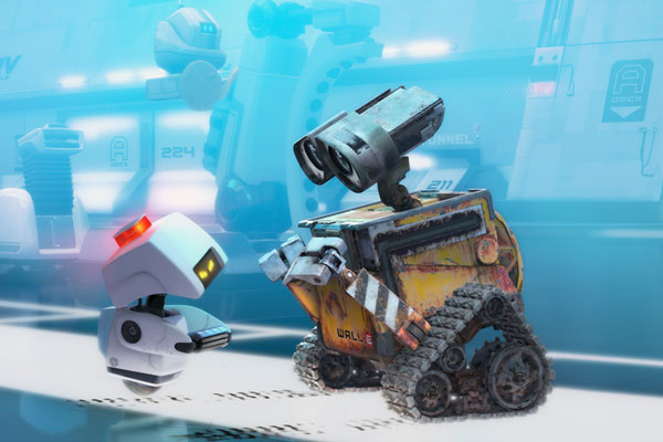 Wall-E et le robot dsinfectant