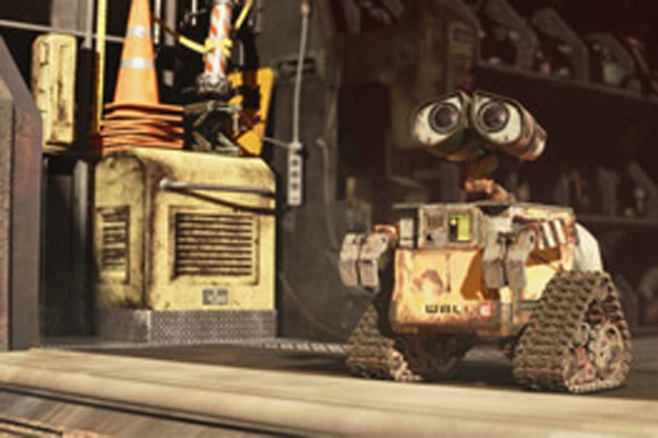 Wall-E sort de chez lui