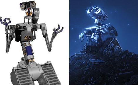 Wall-E a un air de famille très net avec le robot N°5 du film Short Circuit