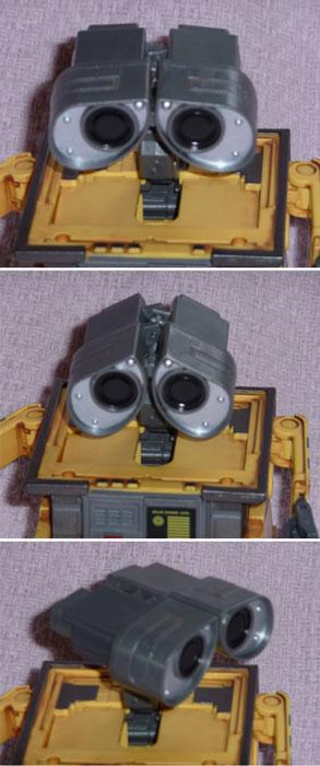 positions des yeux possibles sans que la tête revienne à sa position initiale